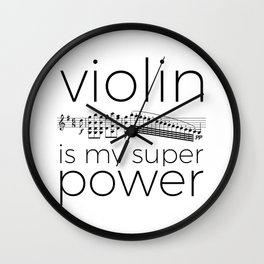 Violin is my super power (white) Wall Clock
