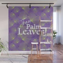 Fan Palm Leaves Pattern Wall Mural