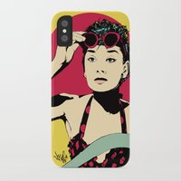 audrey iPhone & iPod Cases featuring Audrey by Vee Ladwa