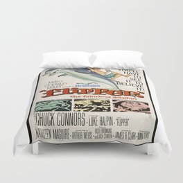 Vintage Classic Movie Posters, Flipper Duvet Cover