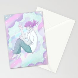 Floating people: 01 Dreaming Stationery Cards