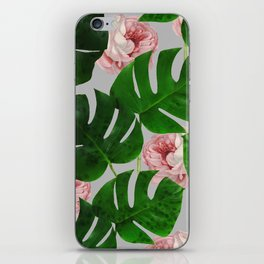 Monstera & Rose Pattern #society6 #decor #buyart iPhone Skin