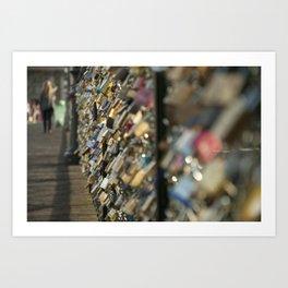 Locks of Love, Paris Art Print
