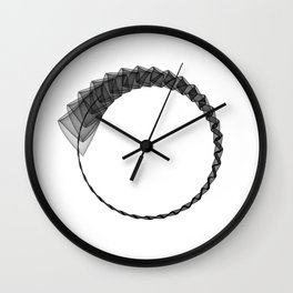 Line ZEN minimal harmony graphic white black geometry silk Wall Clock