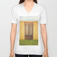 narnia V-neck T-shirts featuring Internet by Nina's clicks