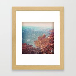 Fall Meets Manhattan. Framed Art Print