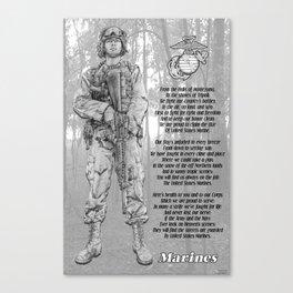Marine with Hymn Canvas Print