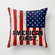 American First Throw Pillow