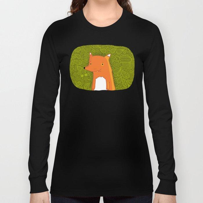 Cute cartoon fox Long Sleeve T-shirt