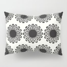 vintage flowers black Pillow Sham