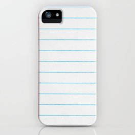 lined paper iPhone Case