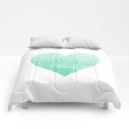 SEAFOAM HEART Comforters