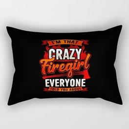 Crazy Firegirl - Firewoman Fire Department Heroine Rectangular Pillow