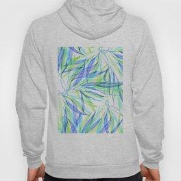 Underwater Forest #2 -Line drawing leaves Hoody