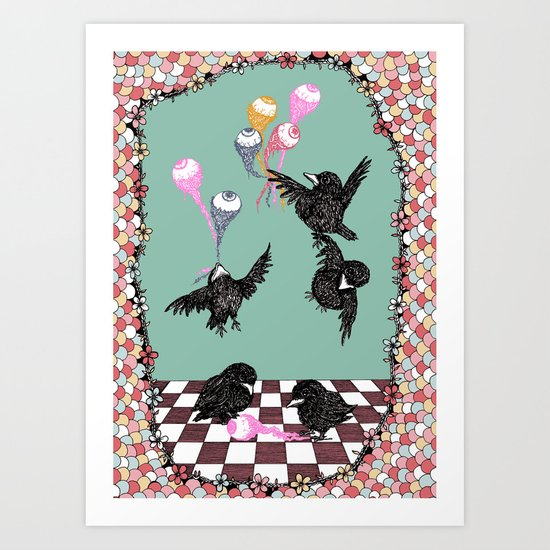 Crow Serie :: Eye Balloons (cria cuervos y te sacaran los ojos) Art Print