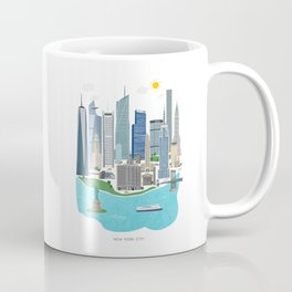 New York City Illustration Coffee Mug