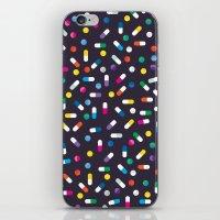 pills iPhone & iPod Skins featuring Pills by Alisha Jensen