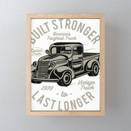 America's Toughest Truck Framed Mini Art Print
