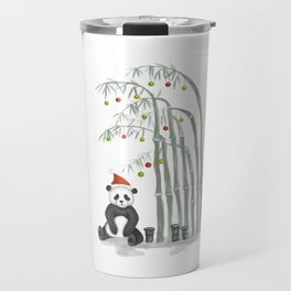 Christmas Panda Travel Mug