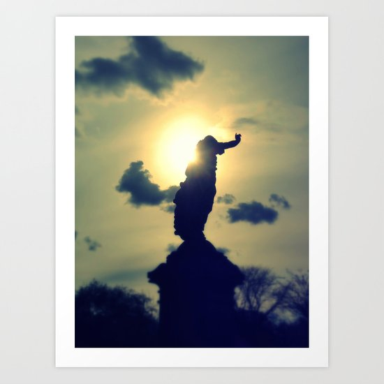 The Setting Sun Art Print