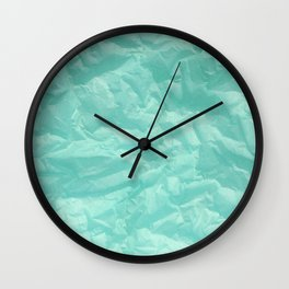 turquoise paper Wall Clock