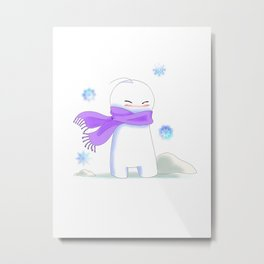Sup Guy Is Cold Metal Print