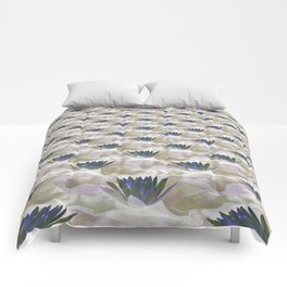 Lilies in the Clouds Fractal - IA Comforters