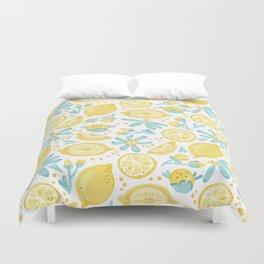 Lemon pattern White Duvet Cover