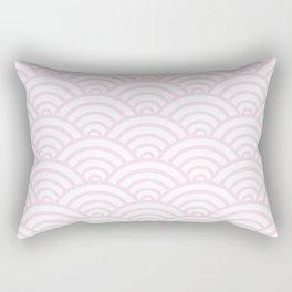 Pink Scallop Pattern Rectangular Pillow