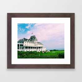 Ocean House Hotel in Watch Hill Rhode Island Framed Art Print
