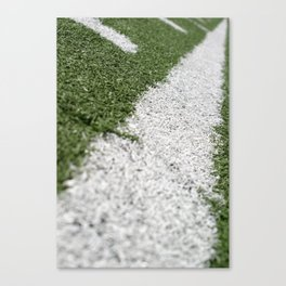 Football Lines Canvas Print