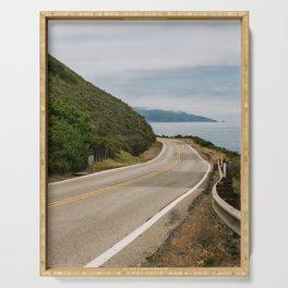 Big Sur Highway 1 Wall Art | California Nature Mountains Ocean Beach Coastal Travel Photography Print Serving Tray