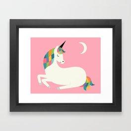 Unicorn Happiness Framed Art Print