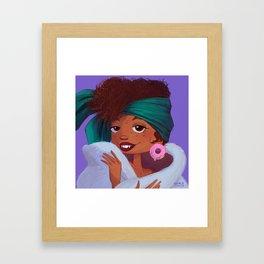 Glam Donut Framed Art Print