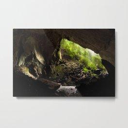View from inside deer cave in gunung mulu national park looking outside Metal Print