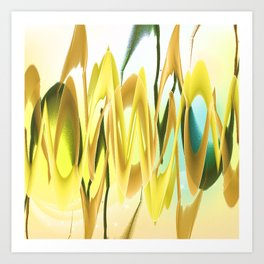 Yellow Confusion Art Print