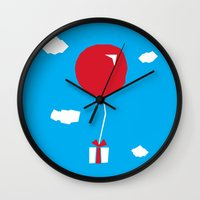 animal crossing Wall Clocks featuring Animal Crossing The Gift by mimibun