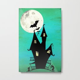 A Haunted House Metal Print