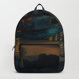 A Nightly River Cruise, Mississippi River by Ernst Max Pietschmann Backpack