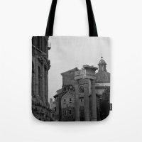 roman Tote Bags featuring Roman Wanderings by Upperleft Studios