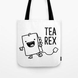 Tea Rex Funny Tea Bag T Rex Pun Tote Bag