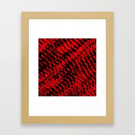 Red sublime metal pattern Framed Art Print