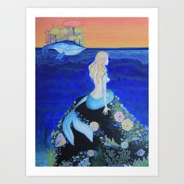 The Tale of Me & The Whale Art Print