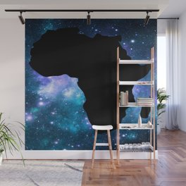 Africa : Teal Blue Violet Galaxy Wall Mural