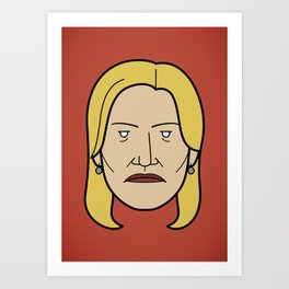 Face of Breaking Bad: Skyler White Art Print