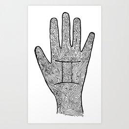 Gemini Hand / Hamsa Art Print