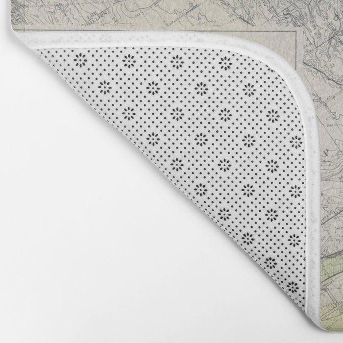 Beautiful Map of the Lower Mississippi River Bath Mat