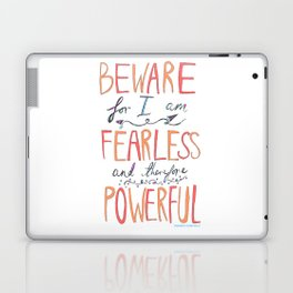 BEWARE, FEARLESS, POWERFUL: FRANKENSTEIN by MARY SHELLEY Laptop & iPad Skin