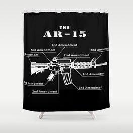 Second Amendment Shower Curtain