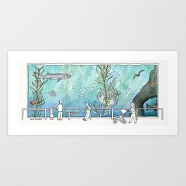 Kelp Forest Tank v2 Art Print
